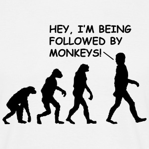 Hey, I'm Being Followed By Monkeys! (Evolution) T-Shirts - Men's T-Shirt