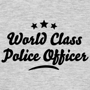 world class police officer stars - Men's T-Shirt