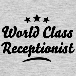world class receptionist stars - Men's T-Shirt