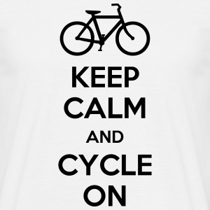 Keep Calm And Cycle On T-Shirts - Men's T-Shirt