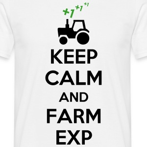 Keep Calm And Farm Exp (Gaming) T-Shirts - Men's T-Shirt