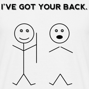 I've Got Your Back. (Funny Stickfigure Drawing) T-Shirts - Men's T-Shirt