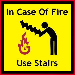 Funny Sign - In Case Of Fire, Use Stairs Shirts - Teenage T-shirt