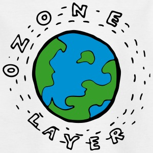 Earth's Ozone Layer Drawing Shirts - Teenage T-shirt