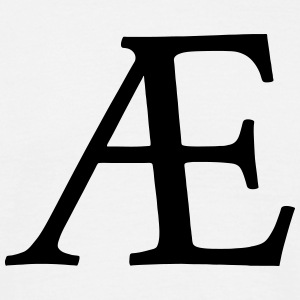 AE Symbol (ligature) T-Shirts - Men's T-Shirt