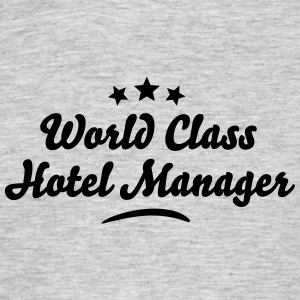 world class hotel manager stars - Men's T-Shirt