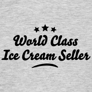 world class ice cream seller stars - Men's T-Shirt