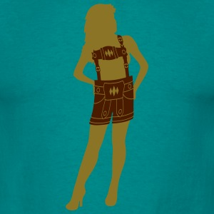 Dirndl woman female dress sexy hot hot girl leathe T-Shirts - Men's T-Shirt