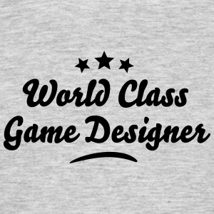 world class game designer stars - Men's T-Shirt
