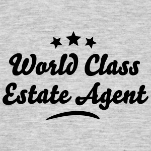 world class estate agent stars - Men's T-Shirt