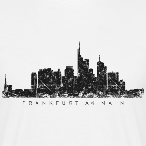 Frankfurt Skyline Vintage Schwarz