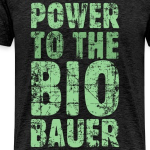 Power to the Biobauer (Vintage/Hellgrün) S-5XL T- - Männer Premium T-Shirt