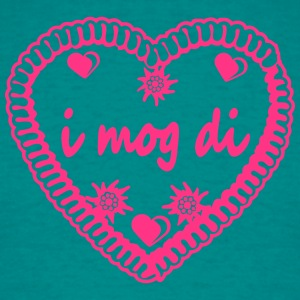 Design i mog di hearts edelweiss flowers gingerbre T-Shirts - Men's T-Shirt