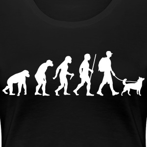 Evolution Hiking WIth Dog T-skjorter - Premium T-skjorte for kvinner