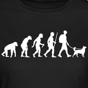 Evolution Hiking WIth Dog T-Shirts - Frauen T-Shirt