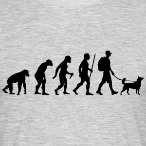 Evolution Hiking WIth Dog T-Shirts - Men's T-Shirt