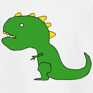 Funny Cartoon T-Rex Drawing Shirts - Kids' T-Shirt