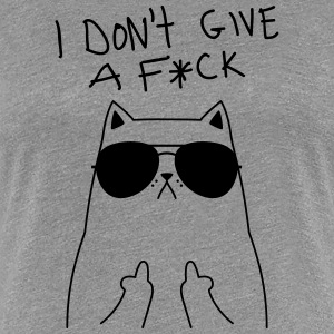 Geek Cat I Don't Give A F*CK Tee shirts - T-shirt Premium Femme