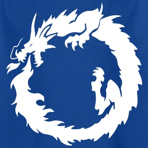 Flaming Dragon Ouroboros Shirts - Kids' T-Shirt