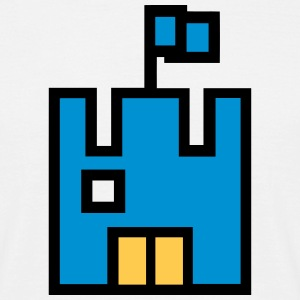 Pixel Game Castle T-Shirts - Men's T-Shirt