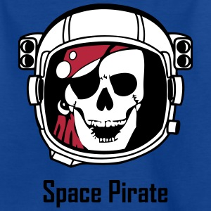 Space Pirate (Skull in Astronaut Helmet) Shirts - Kids' T-Shirt