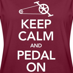 Cyclist | Keep Calm And Pedal On T-Shirts - Women's Oversize T-Shirt