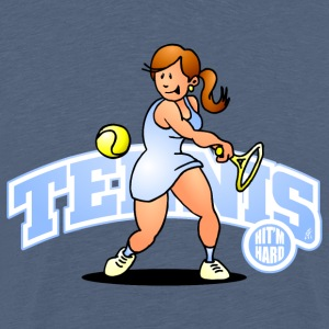 Tennis, Hit'm hard T-shirts - Premium-T-shirt herr