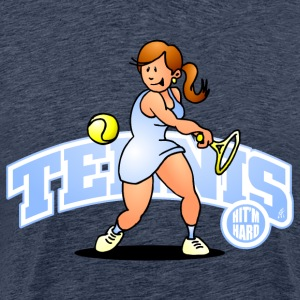 Tennis, Hit'm hard T-skjorter - Premium T-skjorte for menn