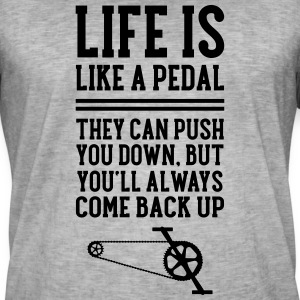 Cyclist | Life Is Like A Pedal T-Shirts - Männer Vintage T-Shirt