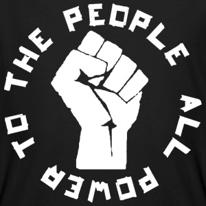 ALL POWER TO THE PEOPLE ROUND T-Shirts - Männer Bio-T-Shirt