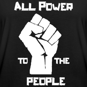 ALL POWER TO THE PEOPLE  T-Shirts - Frauen Oversize T-Shirt