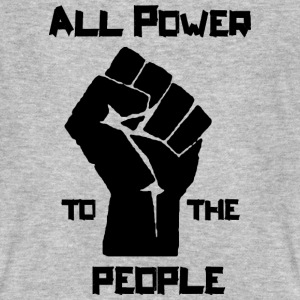 ALL POWER TO THE PEOPLE T-Shirts - Männer Bio-T-Shirt