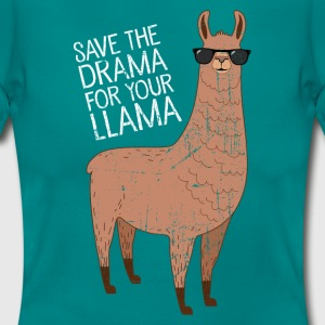 Save The Drama For Your Llama T-skjorter - T-skjorte for kvinner