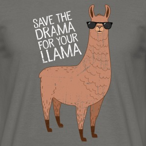 Save The Drama For Your Llama Koszulki - Koszulka męska
