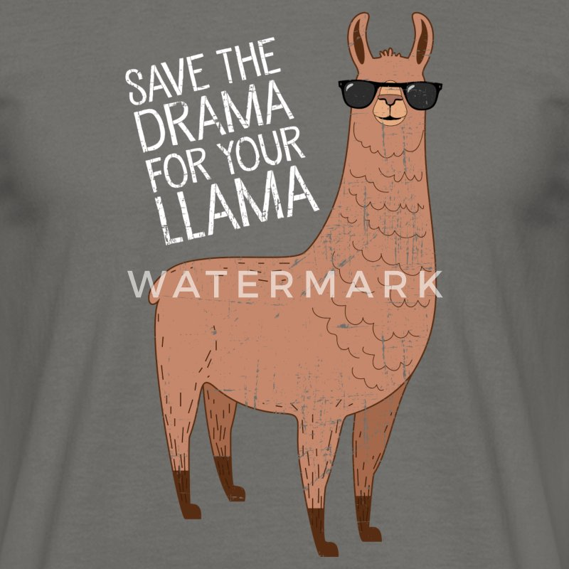 Save The Drama For Your Llama Camisetas - Camiseta hombre