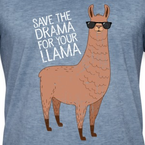 Save The Drama For Your Llama T-Shirts - Men's Vintage T-Shirt