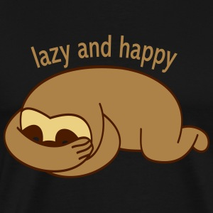 lazy and happy T-Shirts - Männer Premium T-Shirt