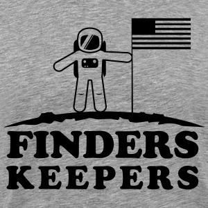 Moon. Finders keepers T-Shirts - Men's Premium T-Shirt