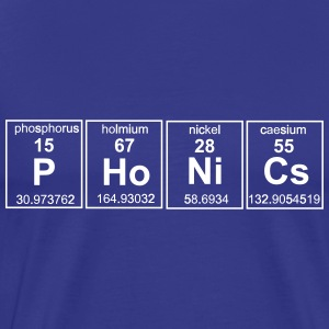 Phonics Periodic Table Elements T-Shirts - Men's Premium T-Shirt