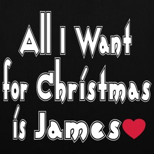 ↷♥All I want for Christmas is James Tote Bag - Tote Bag