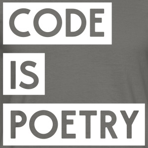 Code is Poetry T-Shirts - Men's T-Shirt