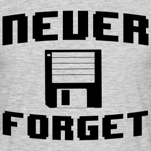 Never Forget Floppy Disk T-Shirts - Men's T-Shirt