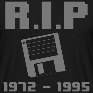 RIP Floppy Disk 1872-1995 T-Shirts - Men's T-Shirt