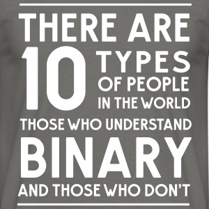 10 types of people Binary and those who don't T-Shirts - Men's T-Shirt