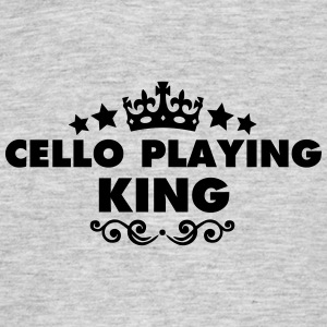 cello playing king 2015 - Men's T-Shirt