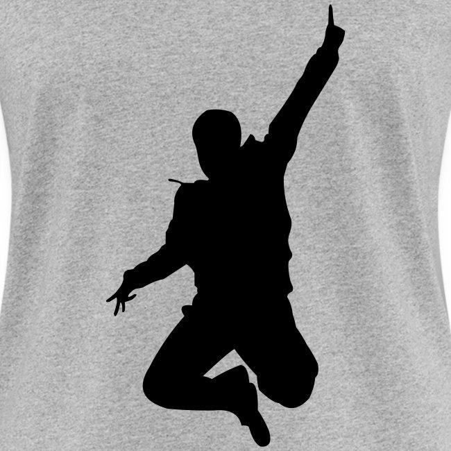 Jumping Man Front - Woman Bio T-Shirt