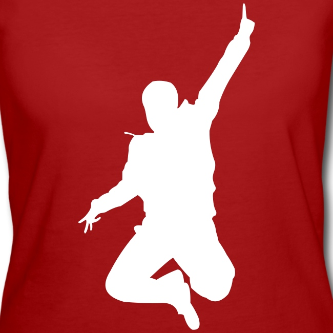 Jumping Man Front - Woman Bio T-Shirt