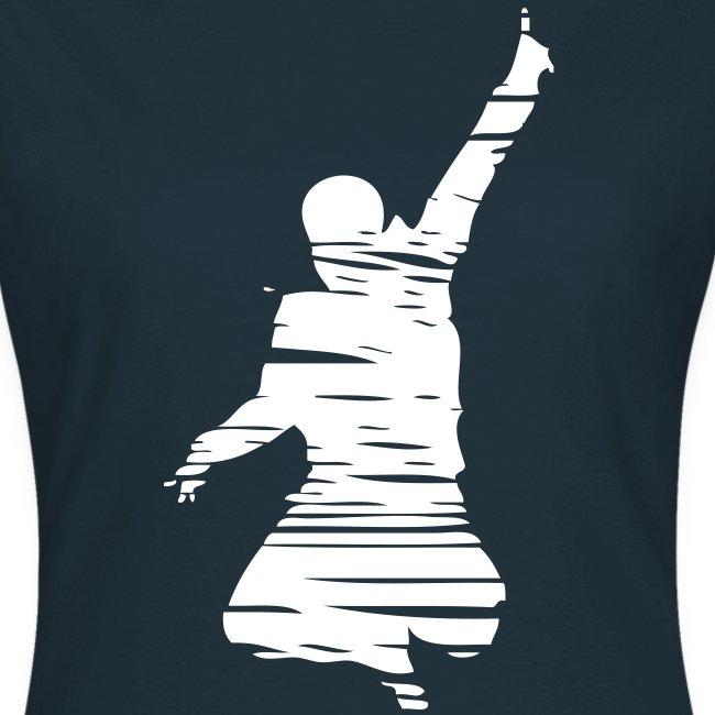 Jumping Man Schraffur Front - Woman T-Shirt