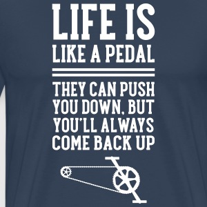 Cyclist | Life Is Like A Pedal T-shirts - Mannen Premium T-shirt