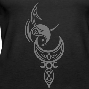 Yin und Yang Mond, triple moon Tops - Women's Premium Tank Top